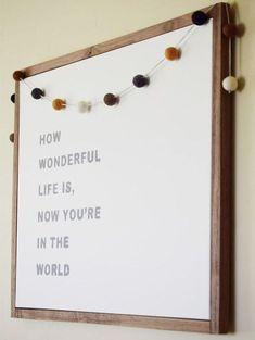 Cute wall hanging // Nursery Decor Inspiration