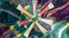 LANCOME Juicy Tubes Pop ~Ultra Shiny Cooling Lip Gloss:  Fruity Pop, Chai Freeze, Iced Cranberry, and Frozen Punch  LANCOME Juicy Tubes ~Lip Gloss Ultra Shiny:  Bololé, Spring Fling, and Simmer ;)  #lancome #juicytubes #lipgloss #shiny #fruity #juicytubespop