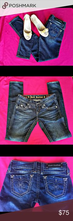 Rock Revival Denim Jeans Adele Skinny SZ 26 MINT Like New Condition Rock Revival Denim Jeans Adele Skinny Size 26. Rock Revival Jeans Skinny