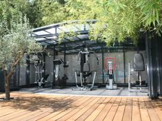 Location vacances maison Arcachon: Salles de sport de 19 m2, avec vélo, + éliptique, muscu et table d'inversion