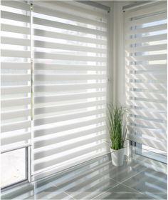 Zebra Blinds, White Zebra, White Bedroom, Stores, Showroom, Ramen, Minimalism, New Homes, Receptions