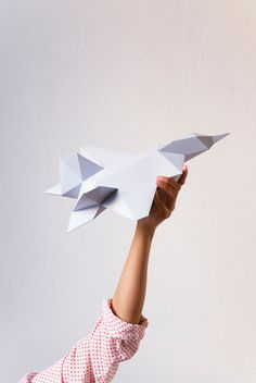 Download Paper Plane Template by AssembliShop on Etsy