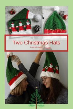 Knit a gifts Christmas Hat, Christmas Knitting, Christmas Stockings, Christmas Sweaters, Christmas Ornaments, Knit In The Round, Knitted Hats, Knitting Patterns, Knit Crochet