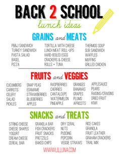 Quick easy lunch ideas