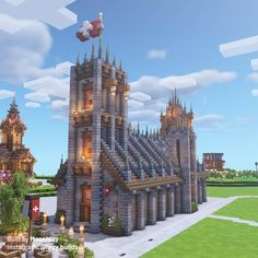 Minecraft Castle, Stay True, Cathedral, Bsl, Fantasy, Mansions, Photo And Video, House Styles, Buildings