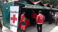 Voluntarios/as de Cruz Roja #Bermeo cubriendo Arrain Azoka.