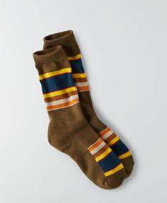 AEO Pendleton Badlands National Park Crew Sockss, Men's, Green
