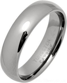 Tungsten Carbide 6mm Court Ring