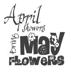 {FREE PRINTABLE} april showers bring may flowers printable