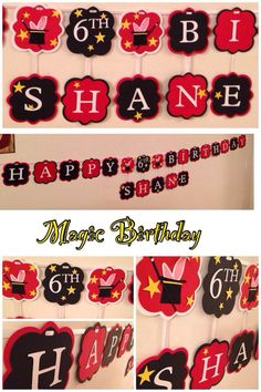 Magic birthday party FIND more creations or to order look for  Nessa's Banners & Creations on Facebook