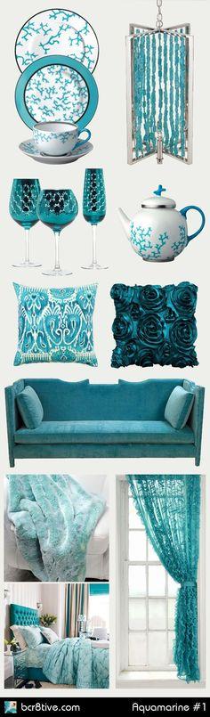 Home Decorating with Aquamarine & Turquoise