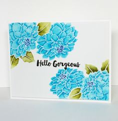 I love this new Dahlia stamp set by Altenew! Colored with Zig Markers