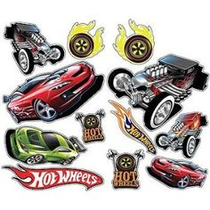 Elegant Two Hot Wheels Wall Stickers Sold As A Set