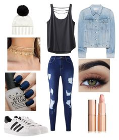 """""""Untitled #44"""" by lildcon on Polyvore featuring Jaeger, Kavu, rag & bone, adidas and OPI"""