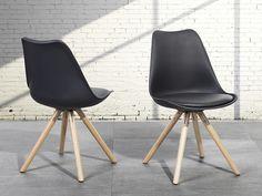 Krzesło do jadalni czarne - fotel - DAKOTA ✓ Kupuj bez ryzyka z odroczonym terminem płatności z gwarancją 365 dni na zwrot towaru
