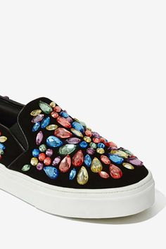 Get cash back on these sparkly Jeffrey Campbell Sarlo Suede Sneakers! #dotshopsave