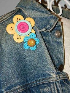 #craft tutorials Button Flowers..how cute.
