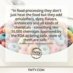Do you recognize the ingredients in your food?  www.FMTV.com #FMTV #foodmatters