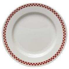 Homer Laughlin Diner Check Dinnerware Collection in Scarlet