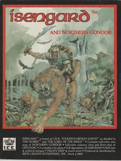 1987 Middle Earth Role Playing MERP Isengard by RubbersuitStudios #merp #roleplayinggames #tolkien