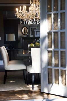 dining room with warm tetures & layers ~
