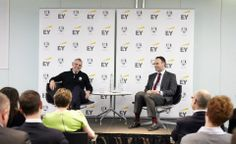Paul McGinley joined #EY employees at our office in London and answered our questions about leadership and team building. He also spent some time taking photos and signing merchandise and EY Ryder Cup books. ©Theo Cohen 2013 — at More London Place. #RyderCup