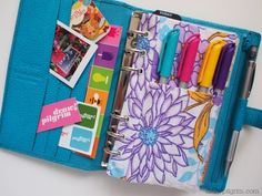 Filofax Pen Case--really like that flower, maybe I can do something like that on Silhouette?