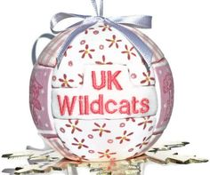 Kentucky Wildcat Quilted Kimekomi Sports Ornament by craftcrazy4u, $12.00