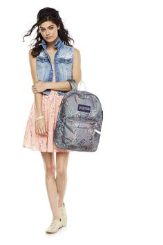 Match your style with a mix of prints and patterns. JanSport at Sac Jansport, Teen Girl Outfits, Cute Outfits, Back To School Shopping, New Kids, School Outfits, Girly, Couture, My Style