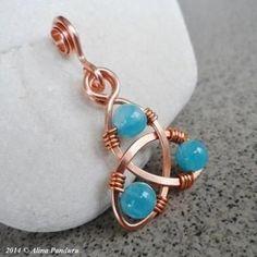 Jewelry Making Celtic Knot Pendant - Blue Angelite -
