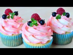 Капкейки, порционные пирожные, украшенные шапочкой из нежного крема. Идеально подходят для вечеринок, Дней рождения и любых праздников. Рецепт: 80 гр сливочн...