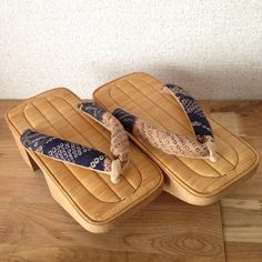 Handmade Japanese Geta Shoes/ Shibori /Wooden/ Sandals With Monotone/ Cool Japan