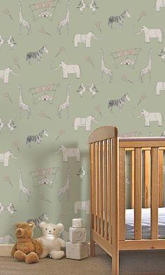 Katie Bourne Kids Wallpaper #kidsrooms #kidswallpaper