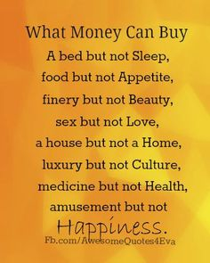Money can't bring the love of your life back, that's for sure...