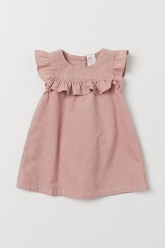 Butterfly-sleeved Dress Dress in woven cotton fabric. Short butterfly sleeves, yoke with decorative gathers, and buttons at back. Baby Girl Dress Patterns, Dresses Kids Girl, Girl Outfits, Dresses For Toddlers, Cute Baby Dresses, Dress Girl, Baby Girl Pink Dress, Vintage Baby Dresses, Skirt Patterns