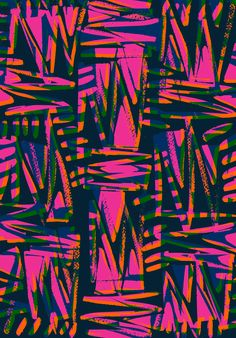 Bright zig-zag scribble - sarah bagshaw patterns in 2019 estampados textile Textile Prints, Textile Patterns, Print Patterns, Neon Wallpaper, Pattern Wallpaper, Graphic Prints, Art Prints, Surface Pattern Design, Abstract Pattern