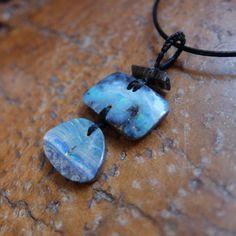 Turquoise blue Boulder Opal Smoky Quartz by NaturesArtMelbourne