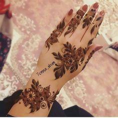 Khafif Mehndi Design, Floral Henna Designs, Arabic Henna Designs, Back Hand Mehndi Designs, Mehndi Design Pictures, Modern Mehndi Designs, Henna Designs Easy, Beautiful Henna Designs, Mehndi Designs For Fingers