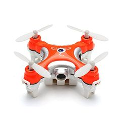 ZCDH Cheerson CX10C CX10C 24G 4CH 6Axis Gyro Mini RC Quadcopter with 03MP Camera 37V 120mAh Battery Mode 2 Left Hand Control Orange * Check out the image by visiting the link.