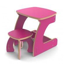 Weamo Дети мини-столы и стул - Довольно в Розовом