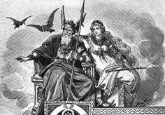 Odin and Frigg  #norsemythology #aesir #gods