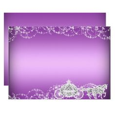 Shop Purple Horse Carriage Princess Sweet 16 Invite created by Zizzago. Photo Background Images, Photo Backgrounds, Wall Clock Art Deco, Princess Sweet 16, Horse Carriage, Sweet 16 Invitations, Purple Love, White Envelopes, Invite