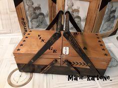 """Ancienne Petite Travailleuse """" Vintage&Indus"""" N°28 Ancienne Travailleuse en bois ,boite à couture.. : Boîtes, coffrets par marie-kartone"""