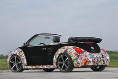 CFC VW Beetle Convertible Black on Black + Graphics  2011