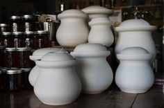 What The Funk: Why Don't Americans Ferment More Stuff? Fermentation Crock, Wheel Throwing, Old Fashioned Recipes, Kitchen Gadgets, Kitchen Tools, Fermented Foods, Preserves, Pickles, Tea Pots