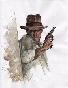 Indiana Jones, in Phillip  Anderson's Sketchbook #4/ All killer no filler Comic Art Gallery Room - 60456