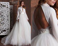 Vestido de novia único GEORGIA vestido de novia bohemio tul