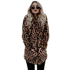 YJSFG HOUSE High quality Luxury Faux Fur coat for Women Coat Winter Warm Fashion Leopard artificial fur Women's Coats Jacket Winter Coats Women, Coats For Women, Clothes For Women, Color Style, Charms, Leopard Jacket, Fur Jacket, Jacket Style, Cardigans For Women