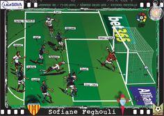 Valencia CF, 2 - RC Celta de Vigo, 1 - Sophiane Feghouli, 1-1, min.40'