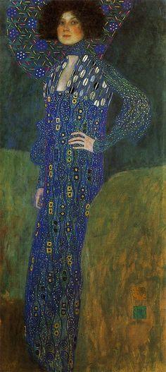 グスタフ・クリムト『エミーリエ・フレーゲの肖像』(1902) Gstav Klimt - Emilie Flöge #ウィーン分離派